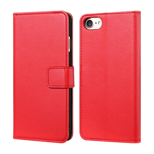Genuine Leather iPhone Wallet Case with Kickstand - All iPhone Models - Five Colors