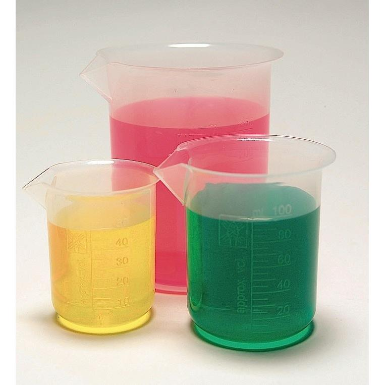 Beakers, Tapered Spouts, PP