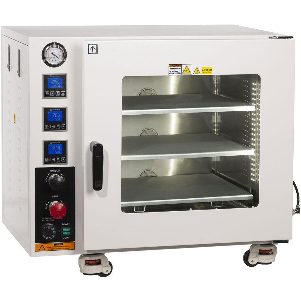 AccuTemp Vacuum Oven, 3.2 Cu Ft, 3 Heated Shelves, SST Tubing/Valves