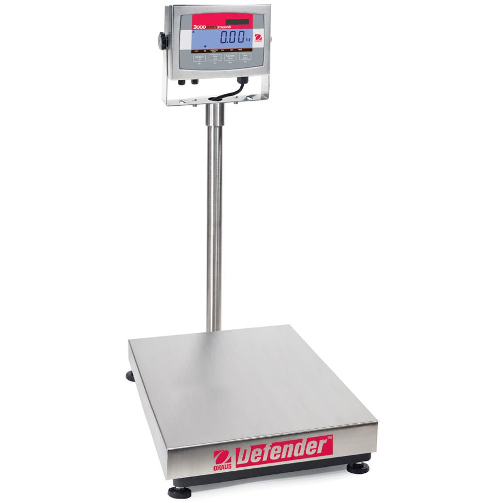 Ohaus® Defender® 3000 Stainless Steel Bench Scales (Readability up to 0.005 lb)