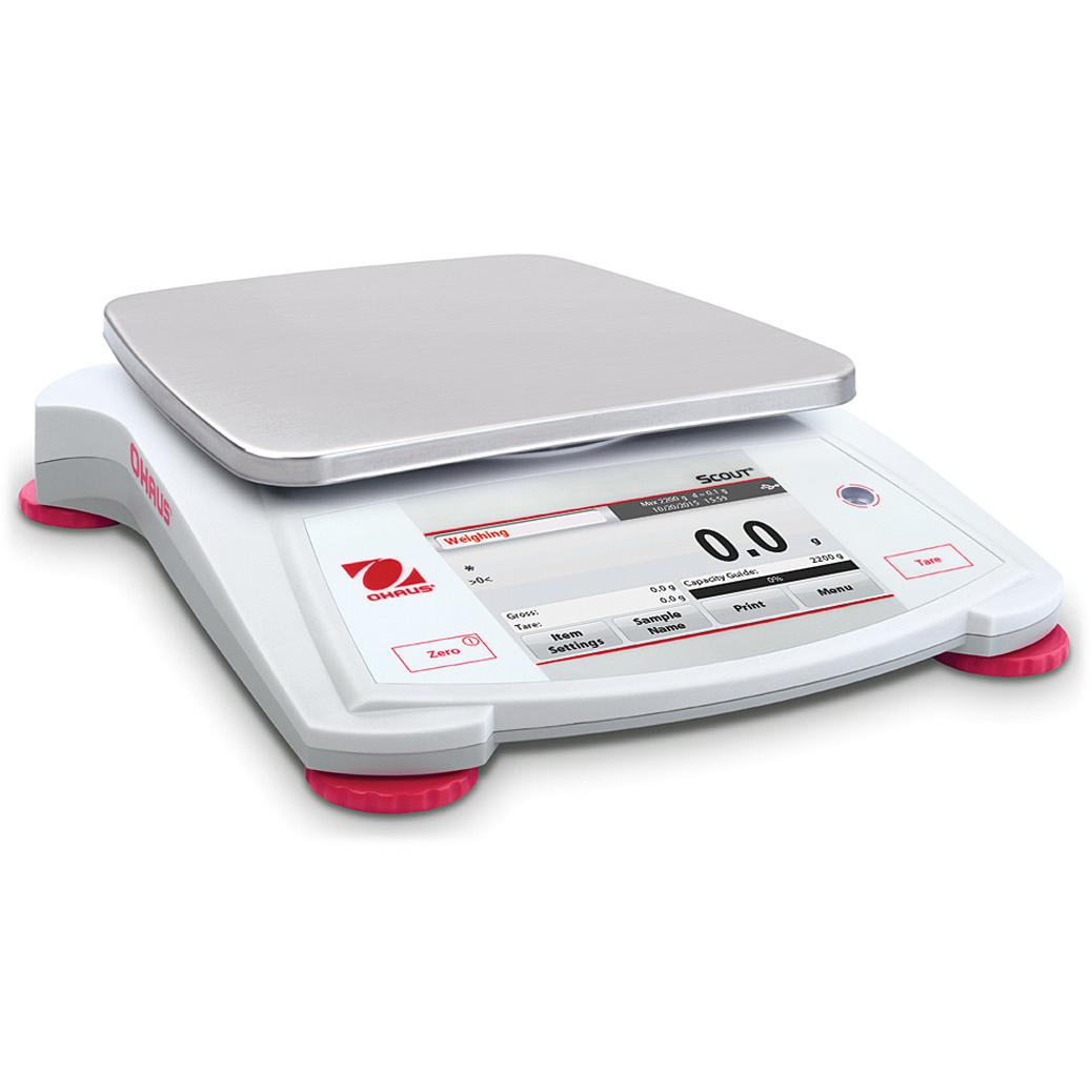 Ohaus® Scout® STX Portable Balances (Readability up to 0.001 g)