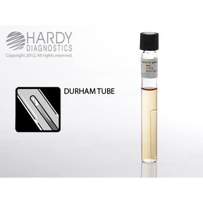 EC Broth with MUG (methylumbelliferyl glucuronide), 10ml fill, 16x125mm tube with durham tube, Hardy Diagnostics