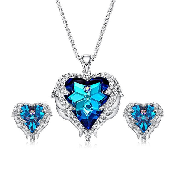 Crystals from Swarovski Angel Wings Jewelry Set