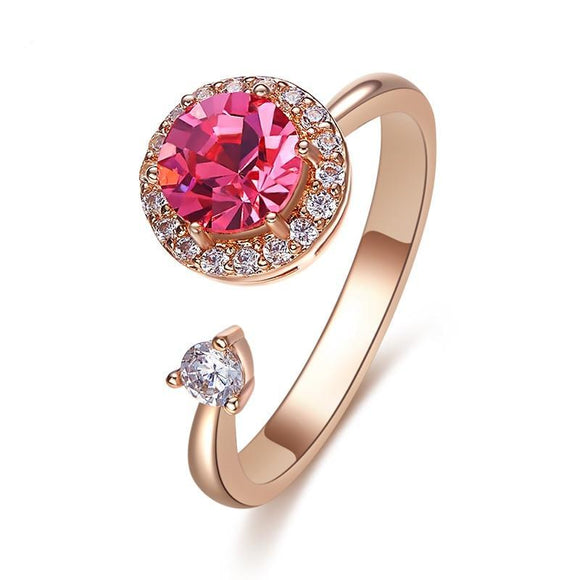 Crystals from Swarovski Adjustable Rose Gold Ring