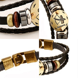 Zodiac Multi-Layer Leather Bracelet