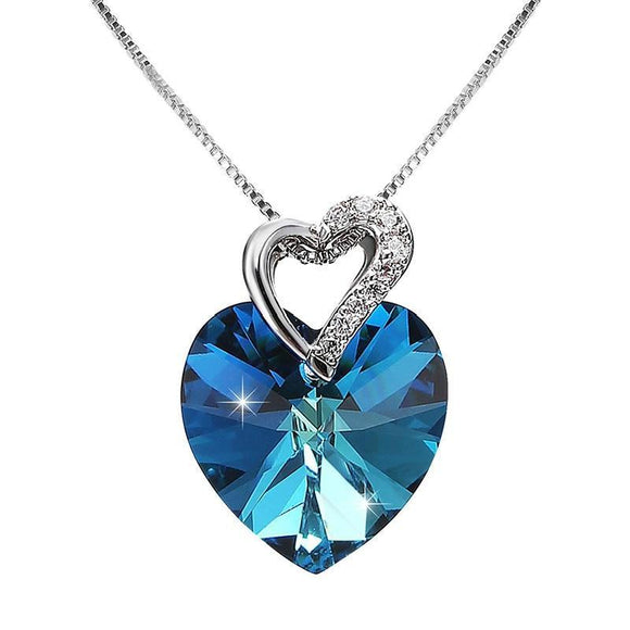 Crystals From Swarovski Heart Necklace