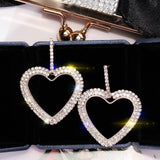 Crystals From Swarovski Heart Drop Earrings