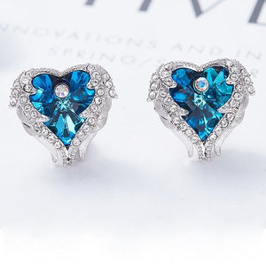 Crystals from Swarovski Heart Of Angel Earrings