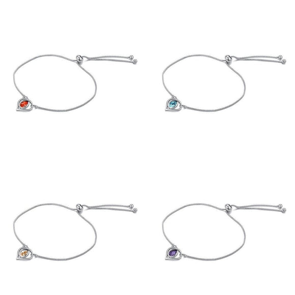 Crystals from Swarovski Drop Heart Bracelet