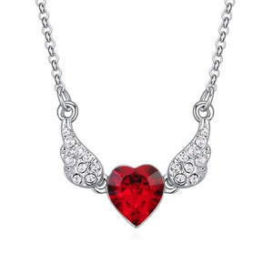Crystals from Swarovski Wings Heart Necklace