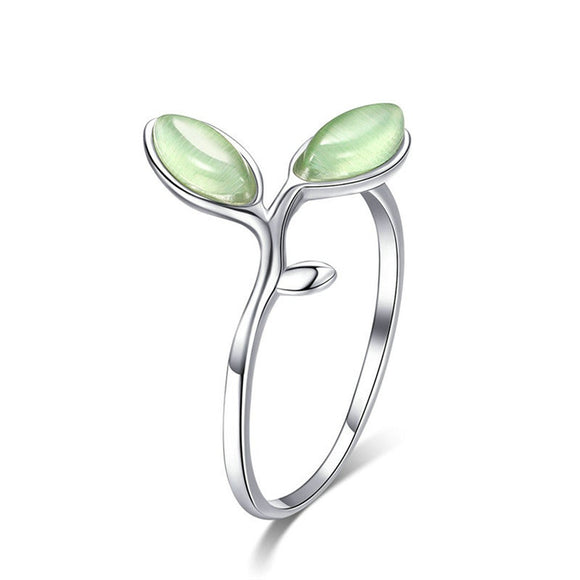 Green Hope Bud Ring