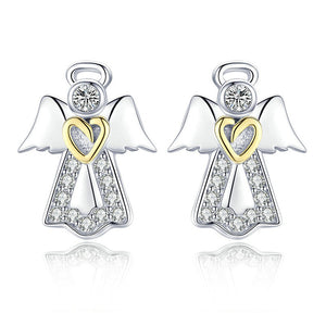 Guardian Angel Stud Earrings