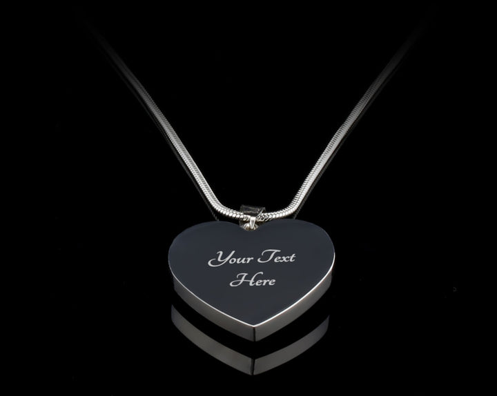 """I Love You To The Moon And Back"" Personalized Heart Luxury Silver Necklace"