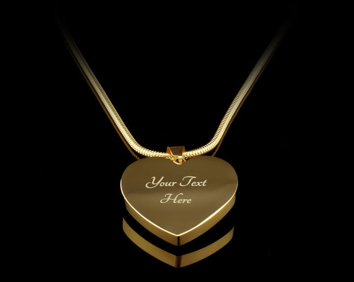 """I Love You To The Moon And Back"" Personalized Heart Luxury 18k Gold Necklace"