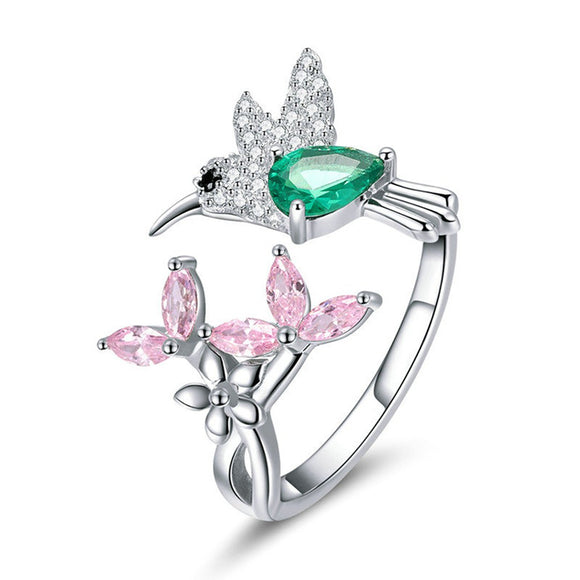 Multicolor Hummingbird Ring