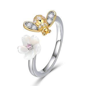 Sweet Wish Of Bee Finger Ring