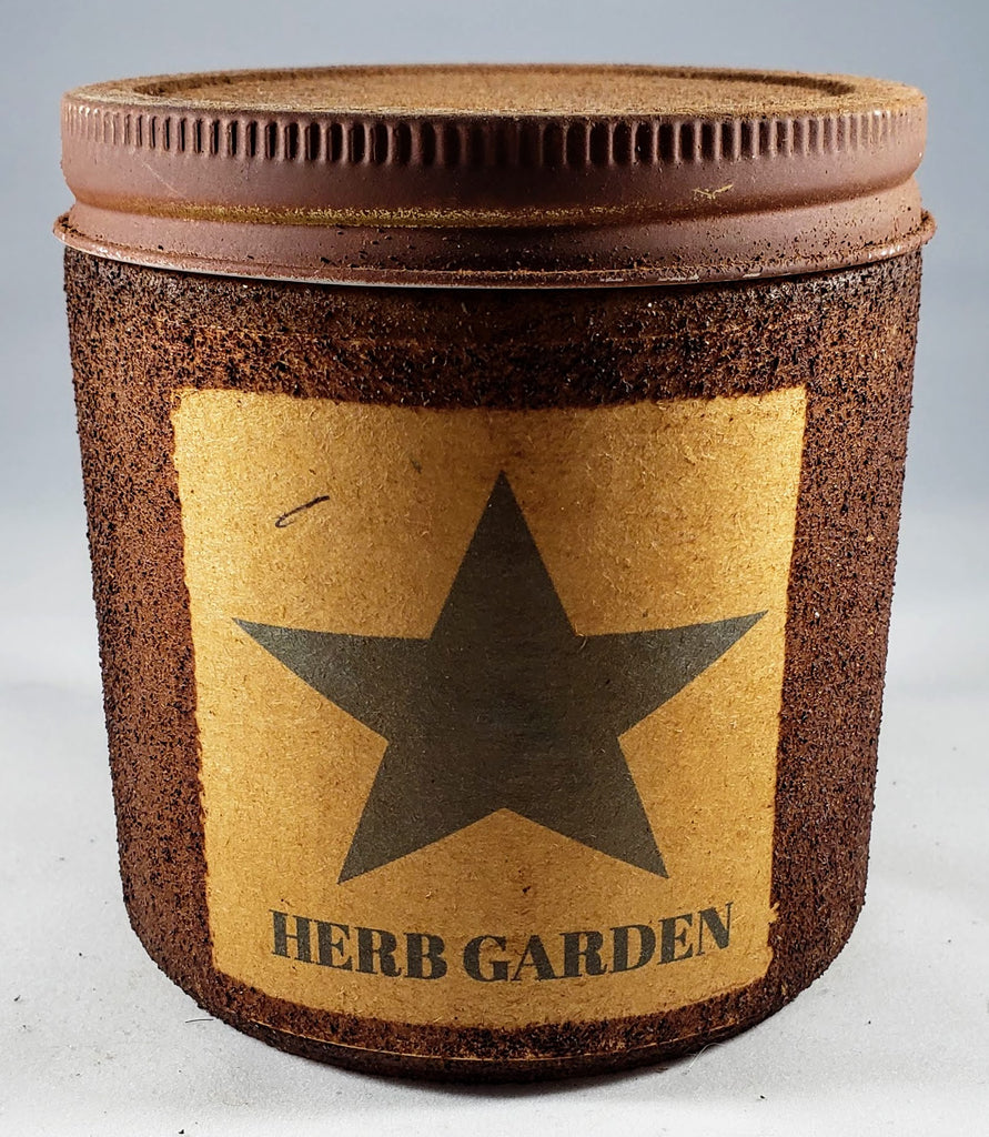 Herb Garden Primitive Candle