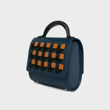 """Perspective"" Mini Malabar Bag in Navy - ARCAL STUDIO Edition."