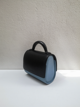 Canvas Mini Malabar Bag - Black & Light Blue