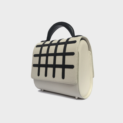 Grid Malabar Bag -  White, Special Edition