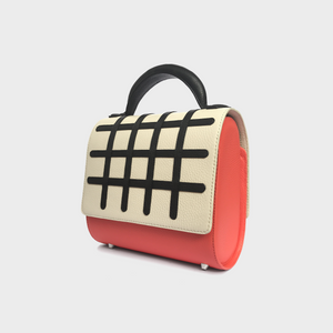 Grid Malabar Bag -  White/Geranio, Special Edition