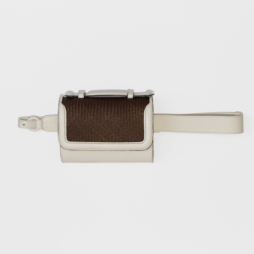 Iraca Belt bag - White & Brown