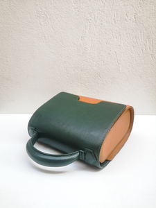 Hunter Green and Camel Malabar Bag - Oxford Edition