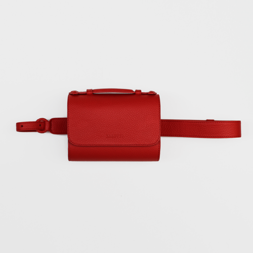 Canvas Belt bag - Bright Red