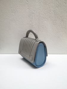 Romana, Mini Malabar Bag - Gray & Light Blue