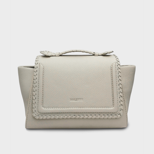 Braided Malabar Satchel Bag, Offwhite.