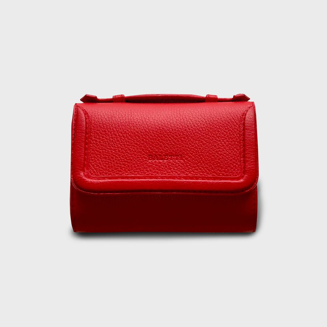 Coral red belt bag