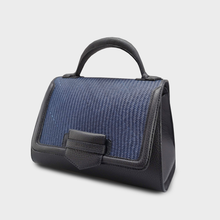 Iraca Malabar Satchel Bag - Navy Blue, Special Edition.