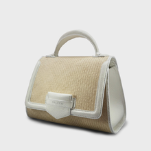 Iraca Malabar Satchel Bag - White, Special Edition.