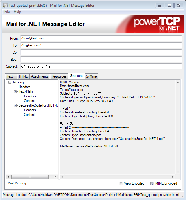 PowerTCP Mail for  NET