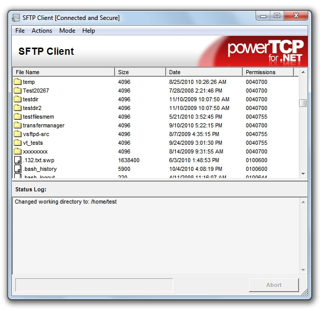 PowerTCP SSH and SFTP for  NET