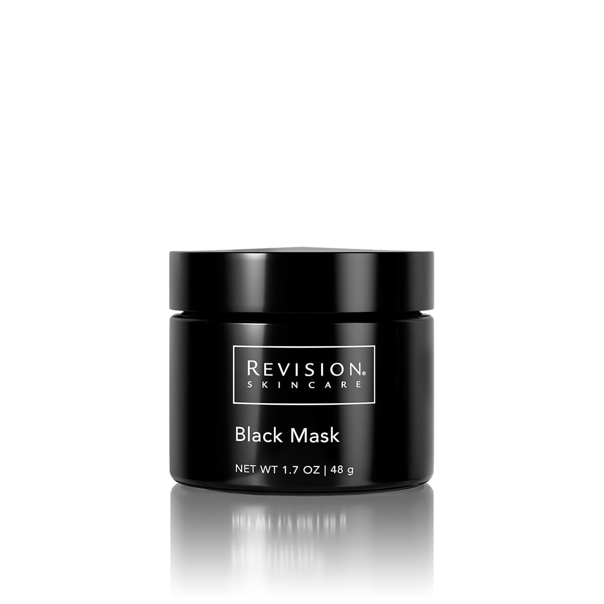 Black Mask jar- purifying facial mask for a smooth, polished complexion. Jar Front