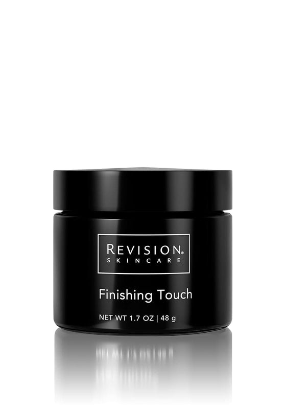 Finishing Touch- microdermabrasion scrub for polished skin. Jar Front