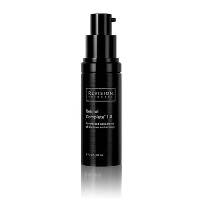 Retinol Complete 1.0- for reduced appearance of fine lines and wrinkles. Pump Front