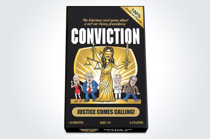 Conviction card game box