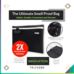 "Large Smell-Proof Bag [12"" x 9""] w/ Lock"