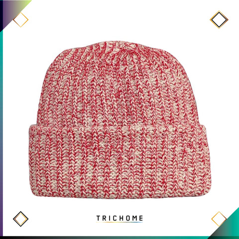 Pacific Northwest Heavy Knit Marled Beanie / Amanita Red