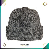 Pacific Northwest Heavy Knit Marled Beanie / Heavy Smoke & White