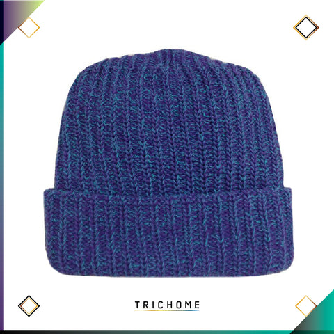 Pacific Northwest Heavy Knit Marled Beanie / Trichome Purple & Codec Teal