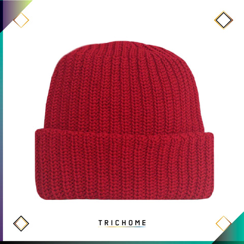 Pacific Northwest Heavy Knit Beanie / Amanita Red