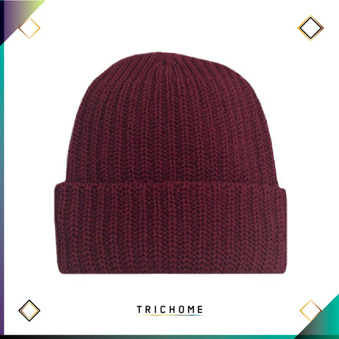 Pacific Northwest Heavy Knit Beanie / Burgundy