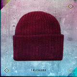 Pacific Northwest Heavy Knit Beanie / Cranberry