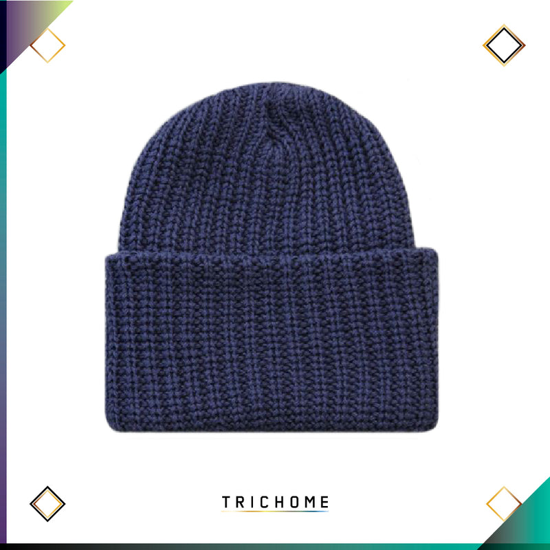 Pacific Northwest Heavy Knit Beanie / Dusk Blue