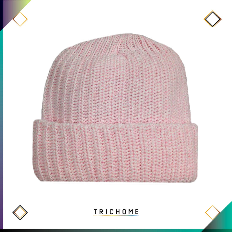 Pacific Northwest Heavy Knit Beanie / Ghost Pink