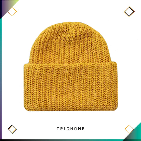 Pacific Northwest Heavy Knit Beanie / Maize