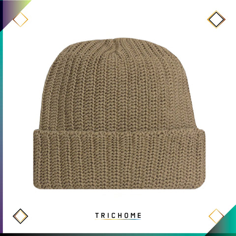 Pacific Northwest Heavy Knit Beanie / Taupe